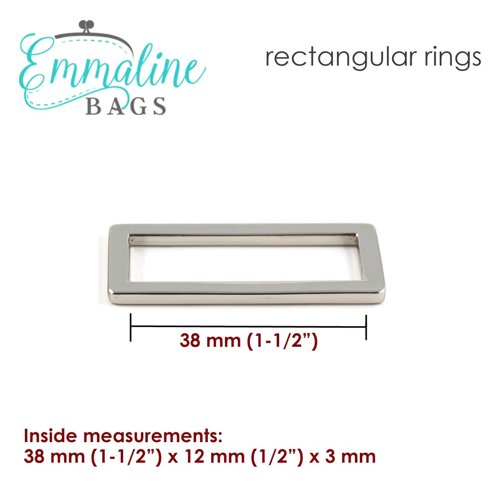 Hardware - Emmaline Designer Rectangle Rings - 1 1/2 - 4 pack