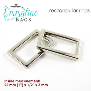 Load image into Gallery viewer, Hardware - Emmaline Designer Rectangle Rings - 1 - 4 pack