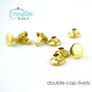 Load image into Gallery viewer, Hardware - Emmaline Double Cap Rivets - 9mm x 8mm - 50 pack