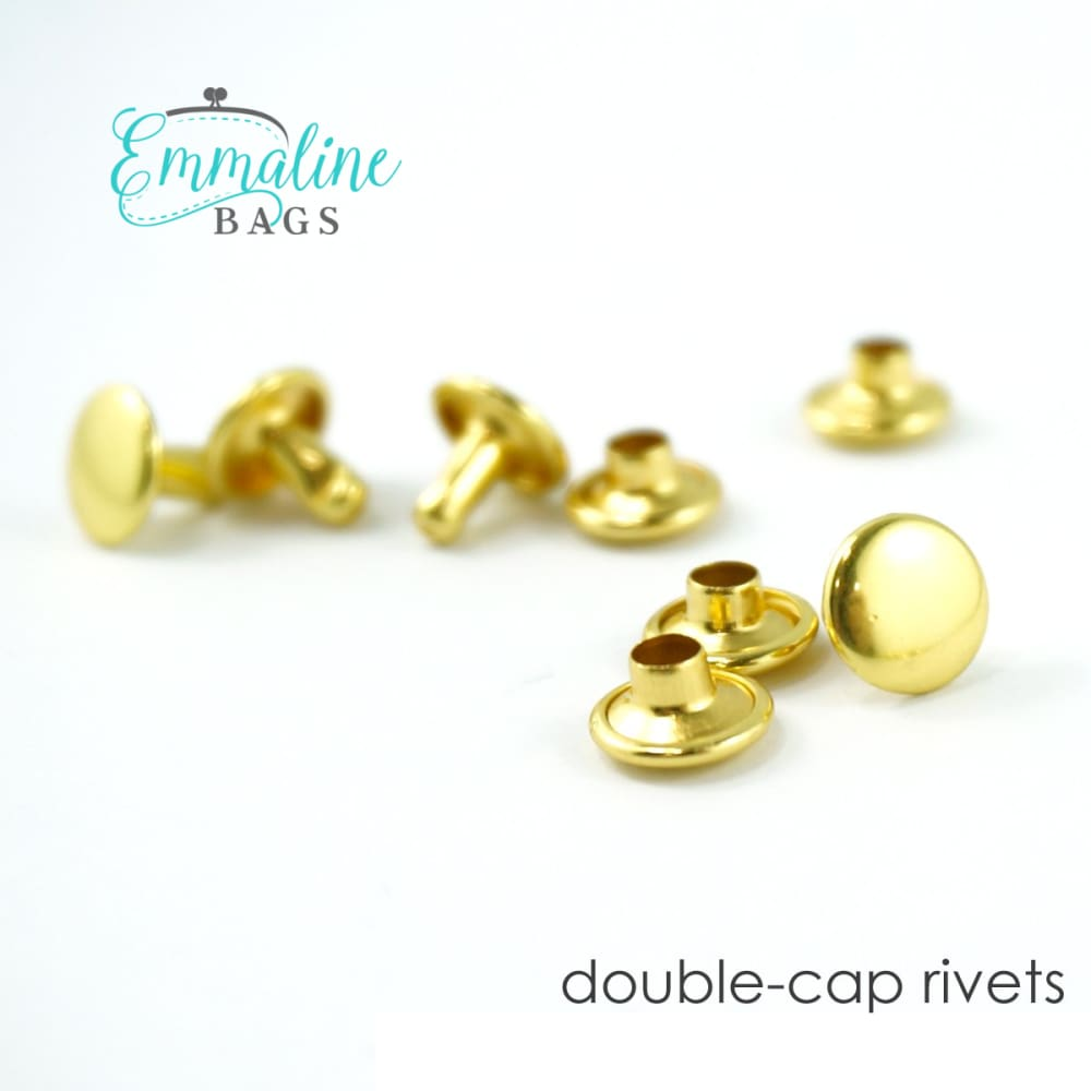 Hardware - Emmaline Double Cap Rivets - 8mm x 6mm - 50 pack