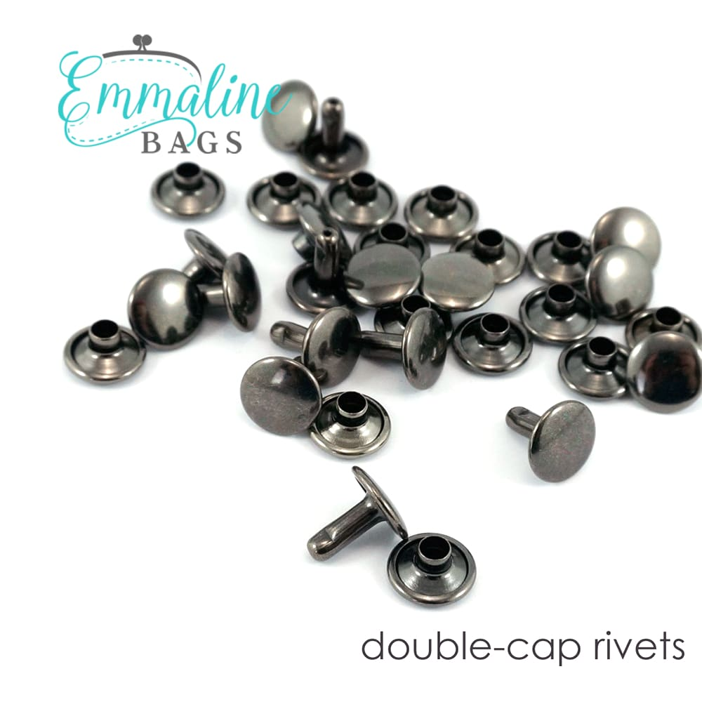 Load image into Gallery viewer, Hardware - Emmaline Double Cap Rivets - 8mm x 6mm - 50 pack