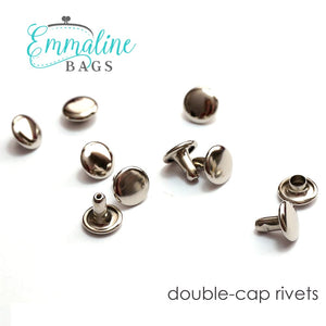 Load image into Gallery viewer, Hardware - Emmaline Double Cap Rivets - Medium - 50 pack
