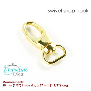 Load image into Gallery viewer, Hardware - Emmaline Designer Swivel Snap Hook - 1/2 - 2 pack