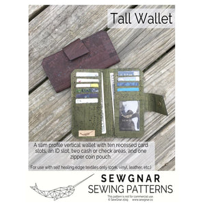 Load image into Gallery viewer, Sewing Pattern - SewGnar Tall Wallet Sewing Pattern