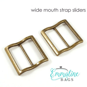 Load image into Gallery viewer, Hardware - Emmaline Strap Sliders - 1 1/2 - 2 pack