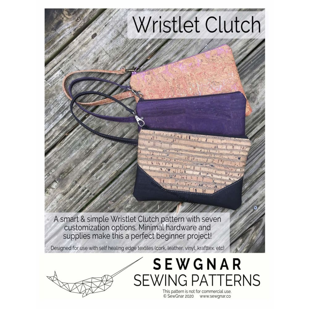 Sewing Pattern - SewGnar Wristlet Clutch Sewing Pattern