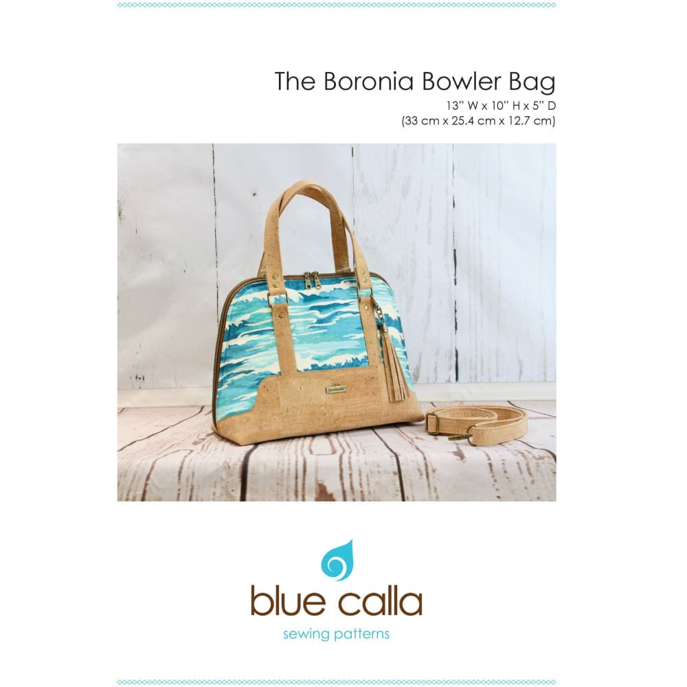 Sewing Pattern - Blue Calla Boronia Bowler Bag Sewing Pattern