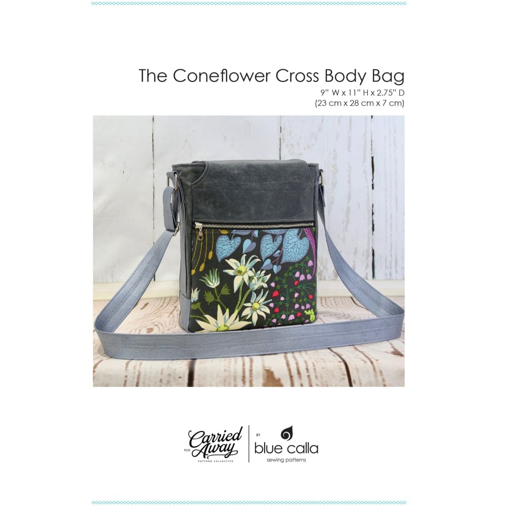 Sewing Pattern - Blue Calla Coneflower Cross Body Sewing Pattern