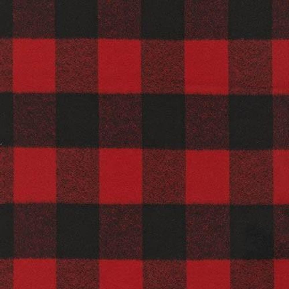 Cotton Flannel - Mammoth Flannel - Red Buffalo Plaid