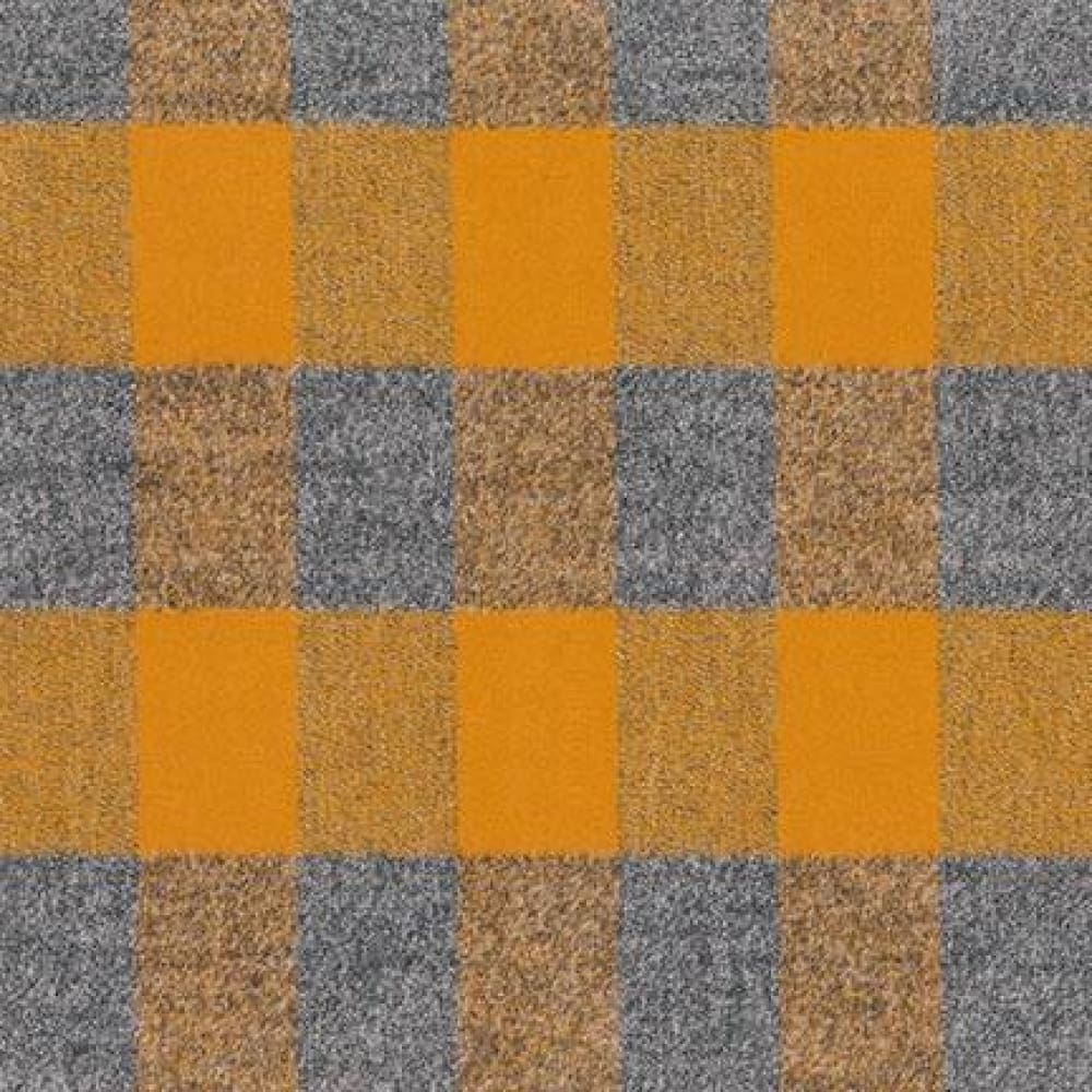 Cotton Flannel - Mammoth Flannel - Buffalo Plaid - Gold & Grey