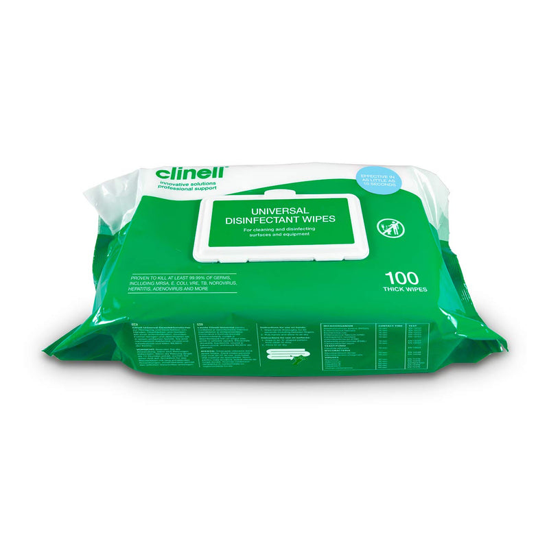 Clinell Universal Hand and Surface Wipes (100) - BCW100