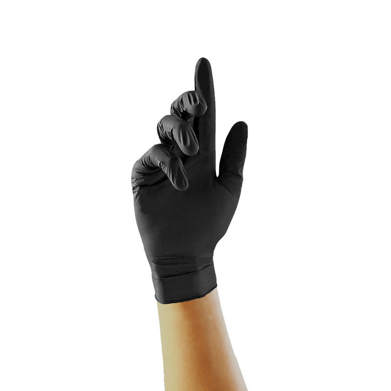 Unigloves Select Black Latex Examination Gloves - GT002