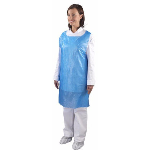 Disposable Polythene Aprons Flat Packed (2 x 100) Economy - A2