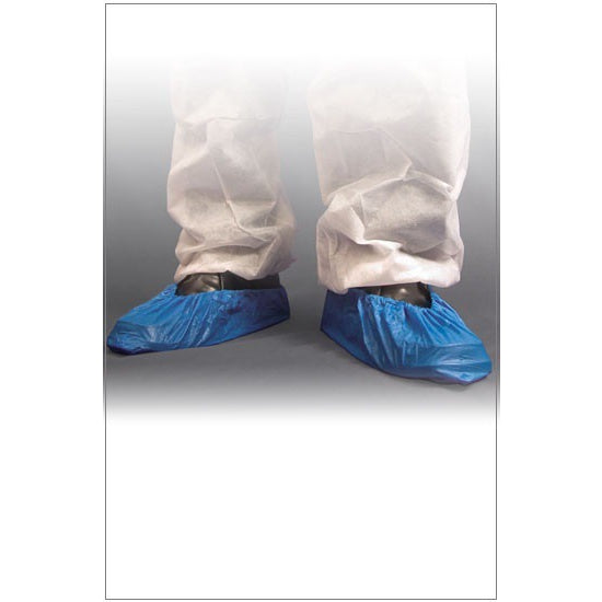 "Shield Disposable Blue CPE Overshoes (41cm / 16"") - DF01/16"