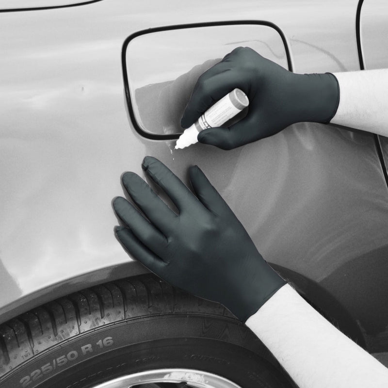 Bodyguards Black Nitrile Examination Gloves GL897