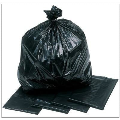 Refuse Sacks Black Polythene Extra Heavy Duty (200) - GWH2