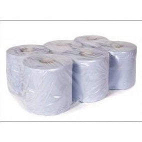 Centrefeed Rolls Blue 2 Ply 150m Plain - PCF150B