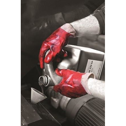Polyco Red PVC Knit Wrist Glove P10R/E10