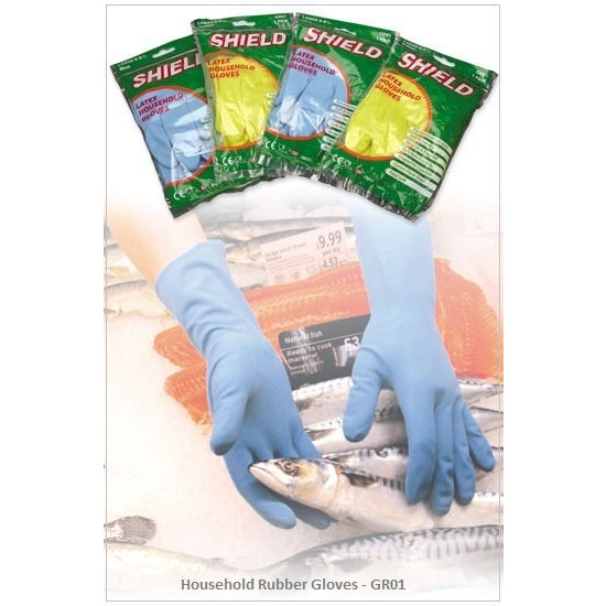 Shield Household Rubber Gloves GR01