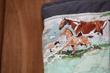 Large Slate Tote - Hand Quilted Paint Ponies by Number Liner