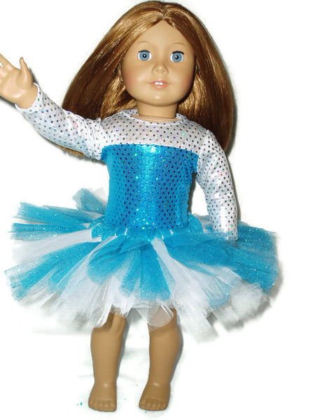 Teal Ballet Outfit Doll Clothes fits American Girl Dolls