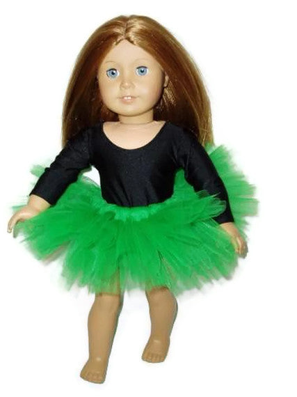 Green tutu ballet doll clothes fits American girl dolls.