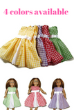 "Handmade Summer Gingham dresses that fits American Girl dolls.  4 colors available in this adorable 18"" doll clothes dresses, while supplies last!"