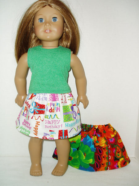 3 piece doll clothes mix and match set fits American Girl dolls.