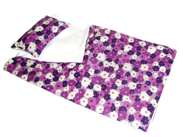 Purple Flower print doll Sleeping bag fits American girl dolls.