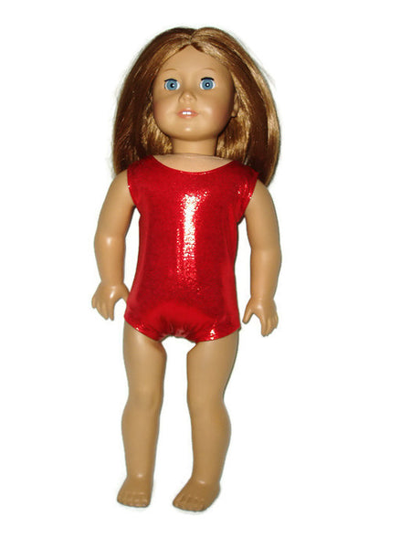 Mystique Red Leotard fits American girl dolls.