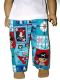 "Pirate Pajamas 18"" boy doll clothes fits American Girl Boy dolls."