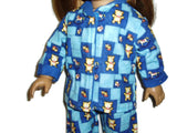 Teddy bear Pj doll clothes fits American girl dolls.