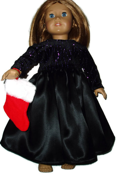 Christmas dress fits American girl dolls.