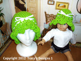 Crochet pattern matching girl and doll cloche hats