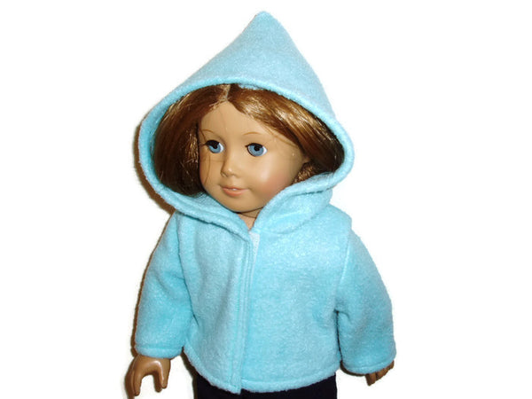Aqua teal doll clothes hoodie fits American Girl dolls
