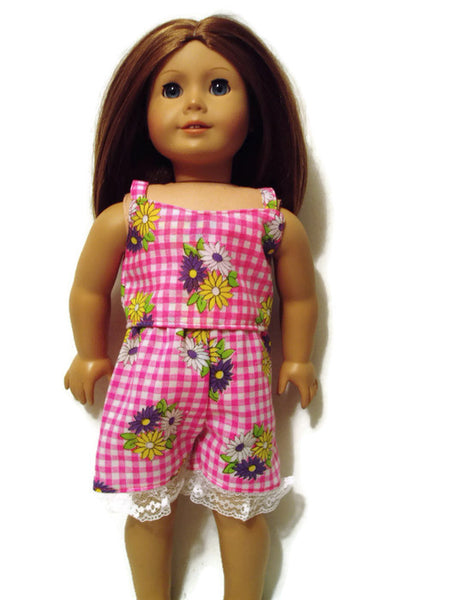 Pretty in Pink summer pj's fits American Girl dolls