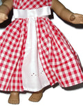 Springtime Red gingham doll clothes dress fits American girl dolls.