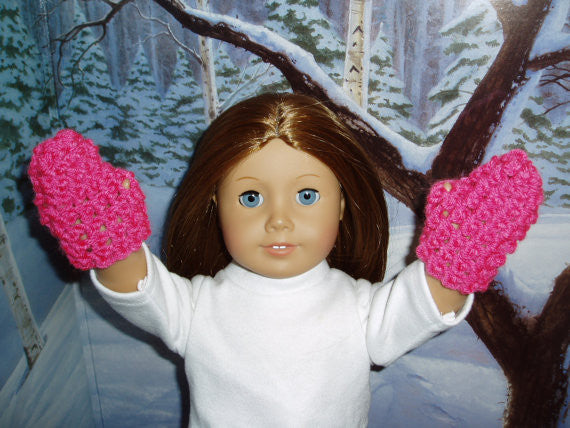 Crochet pattern Mittens fits American Girl dolls
