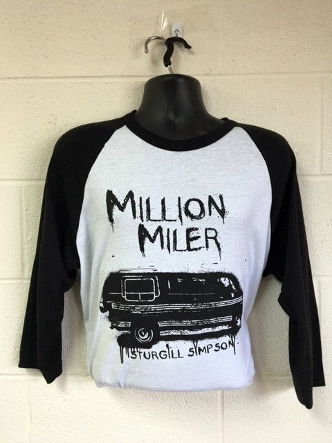 2017 Million Miler Van Tour Raglan- L & 2X only