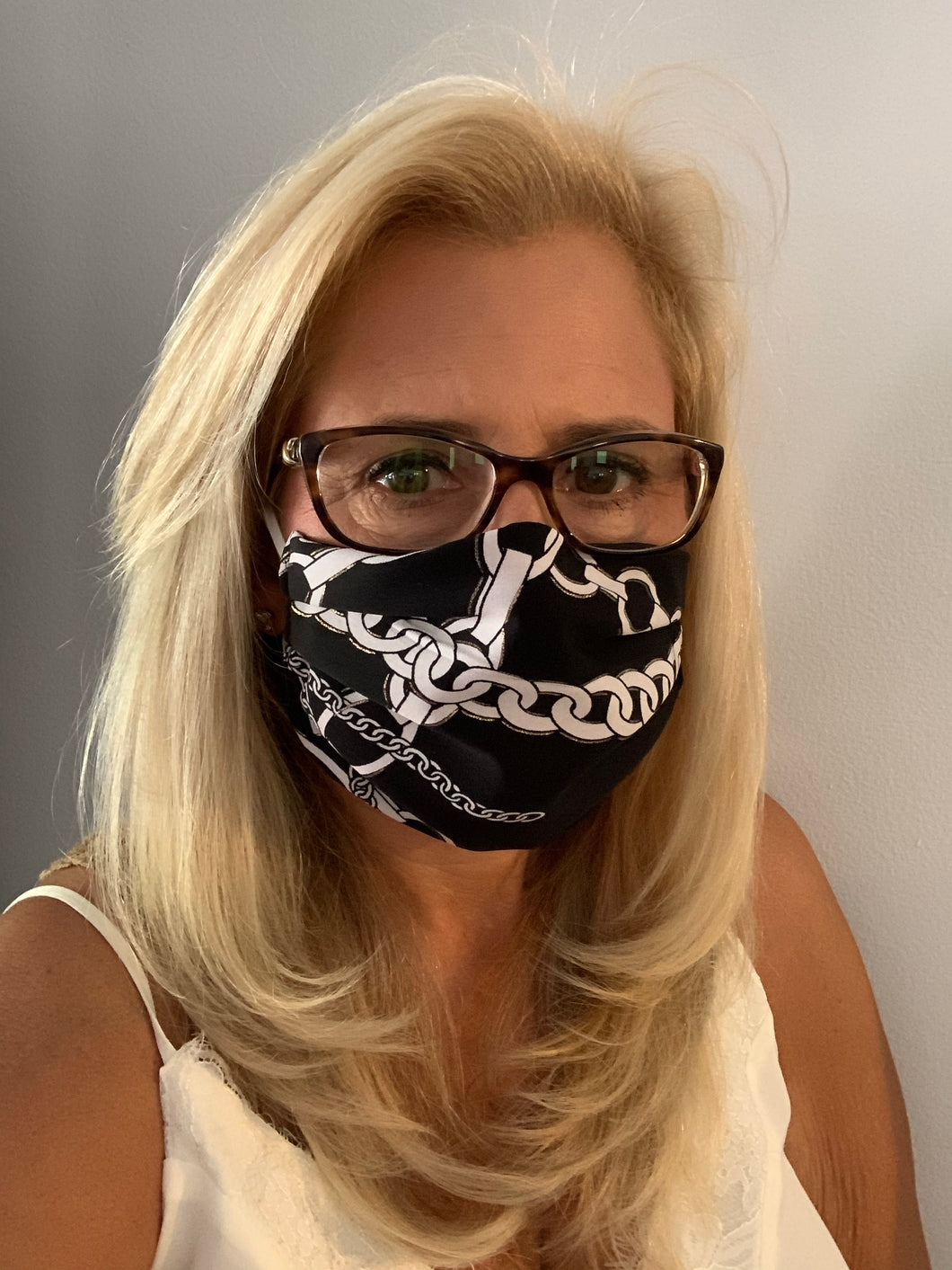 Face Mask Equestrian Black and White