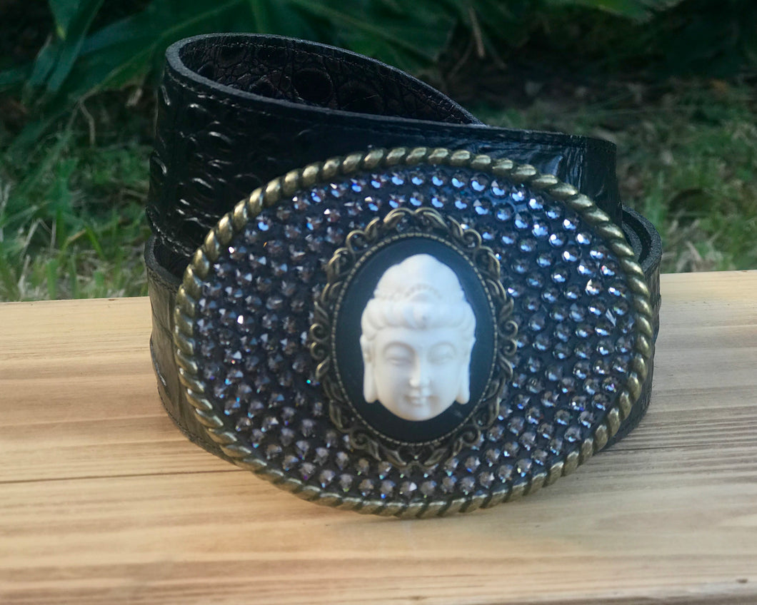 The Cameo Buddha Bronze with Black Diamond/Large