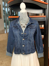 The Dark Denim Jacket / Silver Equestrian