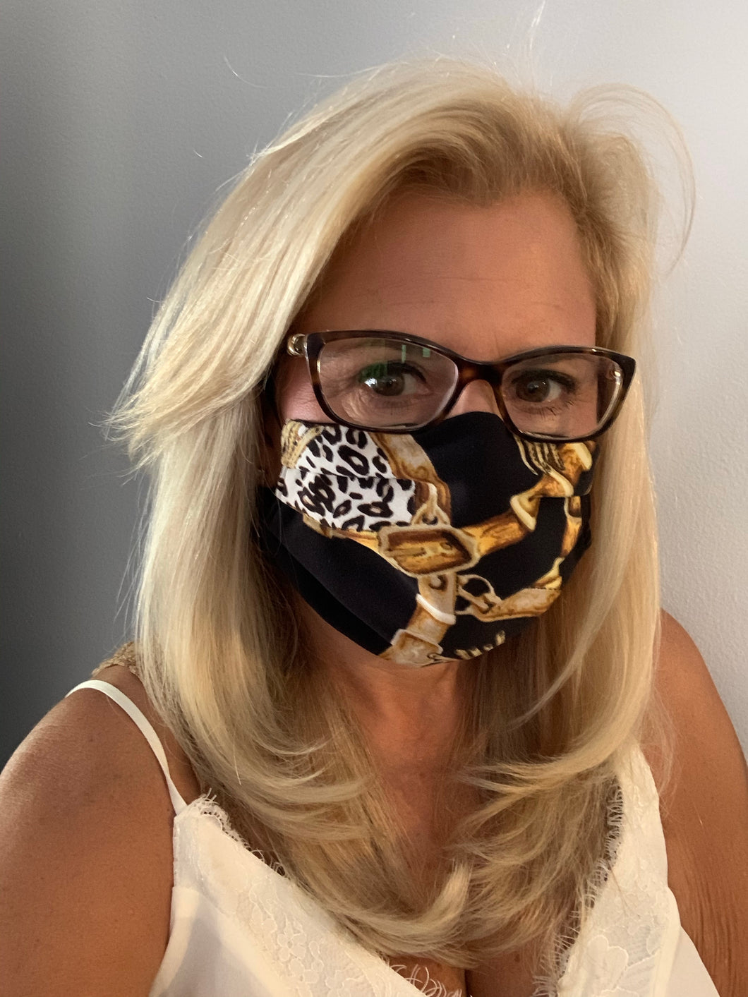 Face Mask Equestrian Animal Print