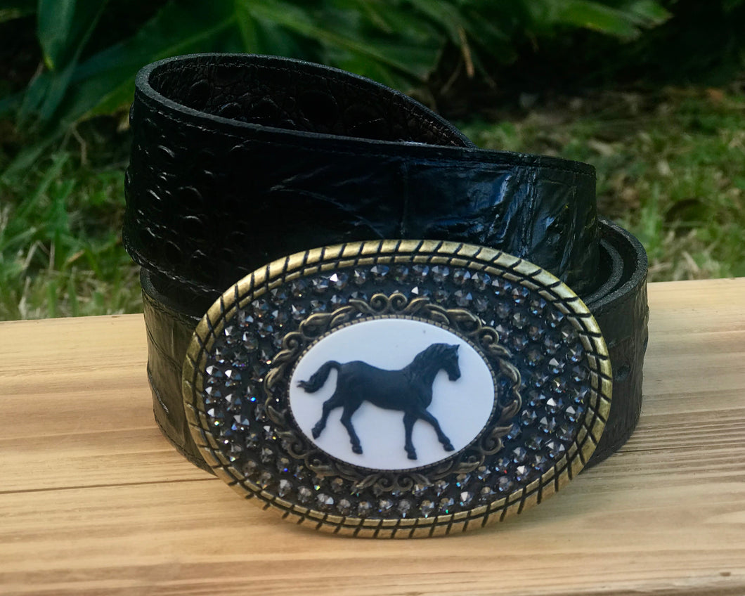 The Cameo Lacey Horse Bronze with  Black Diamond