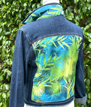 The Dark Denim Jacket / The Blue Palm Tropical