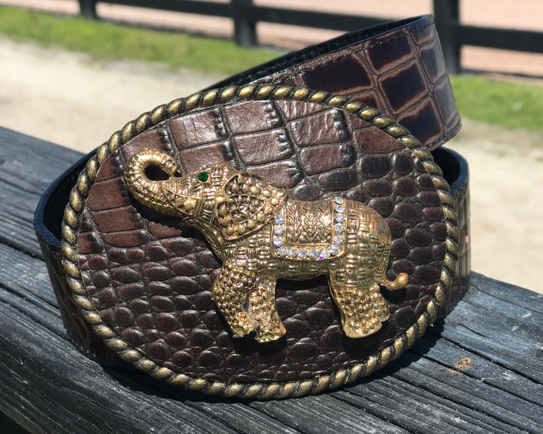 The Elephant Golden Leather