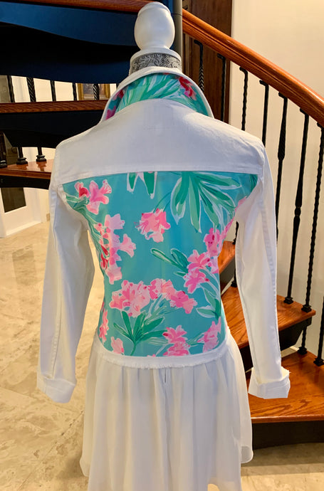 The White Denim Jacket / Lilly Alfresco