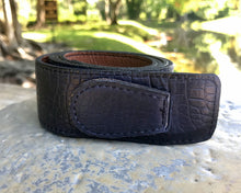 Reversible Navy and Saddle Leather Belt