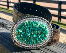 The Stoned Turquoise with Clear Swarovski Crystals