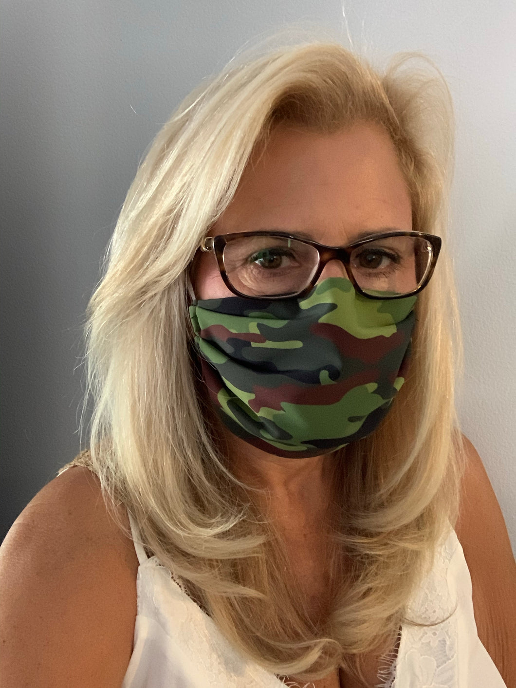 Face Mask Camo Green
